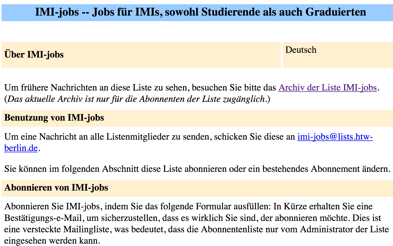 IMI Jobs List